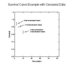 Kaplan-Meier Survival Curves with Censored Data
